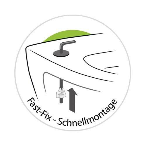 WC-Sitz WC-Sitz WC-Sitz Dekor Terra   Toilettensitz   WC-Brille aus Duroplast-Kunststoff   Metall-Scharnier   Fast-Fix-Schnellbefestigung B00H4413SI WC-Sitze ed7cff