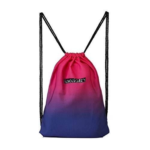 Rosso Per Sfumato Borse Stoccaggio Bambini Danza Qianren Con Colore Lo Coulisse Blu Tracolla Zainetto Da Zaino Della Palestra Borsa A Di Adulti CAxRqf
