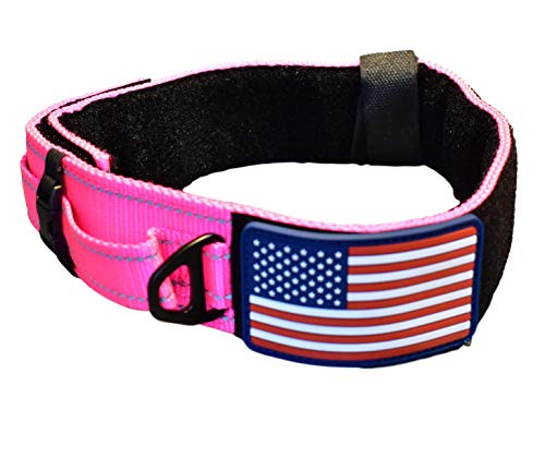 Diezel Pet Products Dog Collar Control Handle Quick Release Metal Buckle Heavy Duty Military Style 2