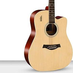 Mr.T Folk-Pop-Gitarre Westerngitarre Konzertgitarre 41 Zoll Dreadnought Cutaway Anfänger Furnier Fichte Holzgitarre Kit…