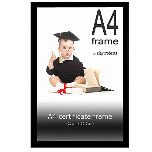 (A4 Black Photo Frame, Picture Frame, Certificate Frame, Wall Mountable and Table Top)