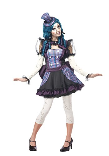 [California Costumes womens Plus Size Broken Doll Costume 1X] (Broken Doll Costume For Adults)