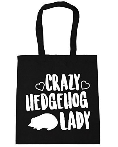 litres lady Black Tote Beach Shopping Bag x38cm Gym Crazy HippoWarehouse hedgehog 10 42cm UOwBBa