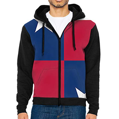 XiaoH Confederate Flag Men's Hooded Jackets Full-Zip Drawstring Hoodie Casual Long Sleeve Pullover Sweatshirt.