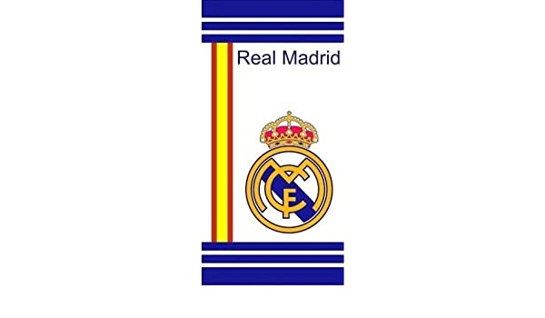 Towel Beach REAL MADRID OFICIAL Spain Flag White 152x76 cms ...