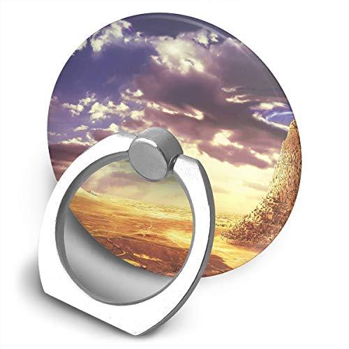 Cell Phone Finger Ring Holder Scenery Deserts Sky 360 Degree Rotating Stand Grip Mount Phone Bracket ()