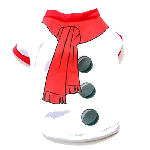 Christmas Dog Clothes for Dogs Coats Snowman Chihuahua Winter Dog Christmas Costume Pet Clothes Warm Pet