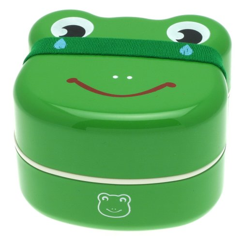 Kotobuki 2-Tiered Bento Box, Frog Face