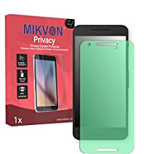 Mikvon Privacy Screen Film for Privacy protection green for LG Google Nexus 5X - PREMIUM QUALITY