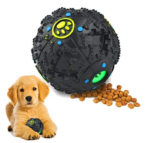Natural Essence Multi-Purpose Treat Dispensing Dog Iq Toy | Squeak Ball Toy | Slow Feeder | Pet Puzzle | Pet Iq Toy | Pet Treat Ball | Interactive Food Dispensing ()