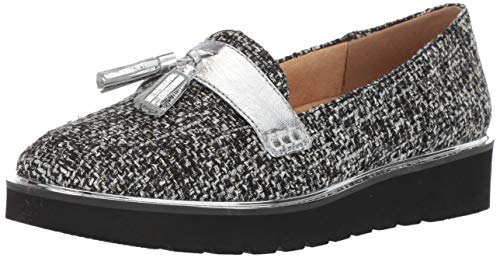 (Naturalizer Women's August Platform, Black/White Tweed, 8.5 M)