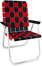 Lawn Chair USA Tailgating Chairs (Black//RED)