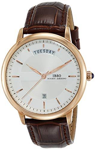 IBSO Analog White Dial Men #39;s Watch   S3978gcbr, Brown