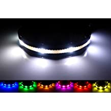 GoDoggie-GLOW - LED Dog Safety Collar - USB Rechargeable - Improved Dog Visibility & Safety - 7 Colours & 5 Sizes - Super-Bright LED's - Great Fun & Safe - Lifetime Guarantee - White XL