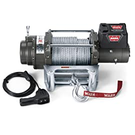 WARN 17801 M12000 Series Electric 12V Heavyweight Winch with Steel Cable Wire Rope: 3/8″ Diameter x 125′ Length, 6 Ton (12,000 lb) Lifting/Pulling Capacity