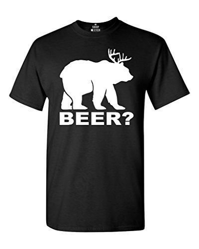 Bear? Deer? Its a Beer! T-shirt Funny Shirts Large Black