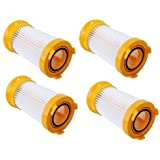 HQRP Filter 4-Pack for Eureka LightSpeed 100 300 4709AZ, PowerPlus 4704IDE, LightForce 300, PetPal 4716AVZ, HP5555 Series Bagless Dust Cup Vacuum Cleaner 4701AZ 4702A 4703A 4703B + HQRP Coaster