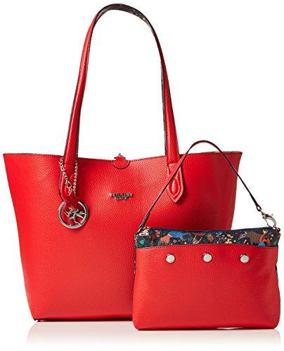 Tote Rojo Bag Piero Guidi busta rosso Totes Papavero Bolsos Mujer CCn05xrad