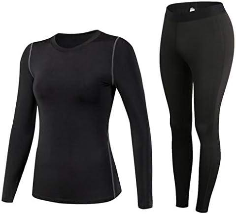 女性の体にフィットするトレーニングスーツ、スポーツフィットネススーツ、汗を発散させ、速乾性の長袖+ズボン (Color : Black, Size : M)