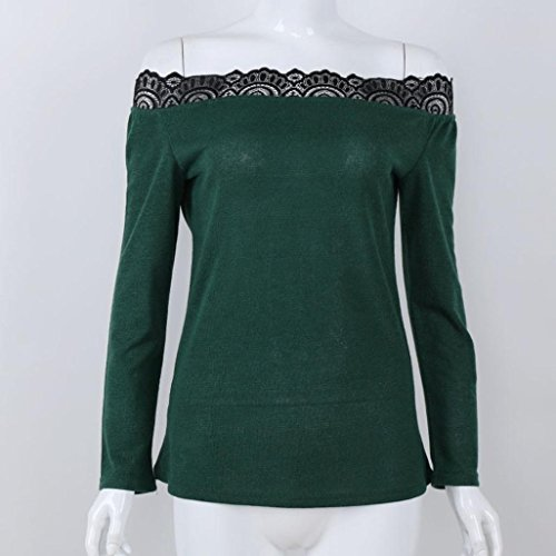 Blouse Vert manches Femme longues Casual Malloom Sweat Tops zxRAFwYzqC