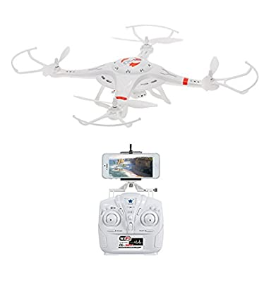 Drone Master Drone with Camera HD Camera 360 Degree Super Wide Angle 6 Axis Gyro Wifi Phone Control RealTime Video Supported White Cx-32w