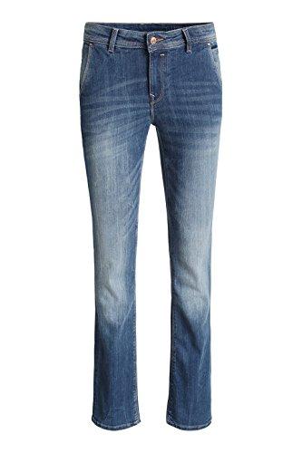 edc by ESPRIT Skin bootcut-Pantalones Mujer, Azul (Blue Medium Wash 902)