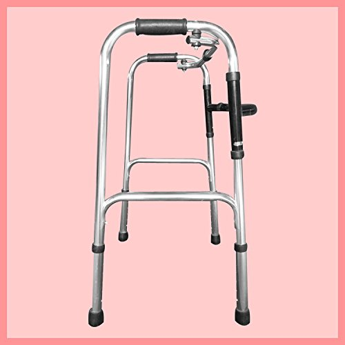 Walker Aluminum Alloy Collapsible Old Man Mobile Crutches Walker Is Adjustable black by jiaminmin