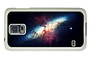 Hipster protective Samsung Galaxy S5 Case galaxy nebulae PC White for Samsung S5