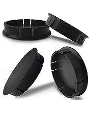 BiomarLabs® 4 x 60mm ABS Plastic Black Universal Car Rims Wheel Center Hub Caps CU 0