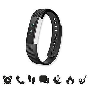 endubro W33/ID115 – Bracelet Fitness / Fitness Tracker / Smart Bracelet / Montre connectée avec écran tactile OLED et Bluetooth 4.0 pour Android et iOS – Podomètre, surveillance du sommeil, Notifications appels/SMS/Whatsapp/Facebook avec Android et iOS