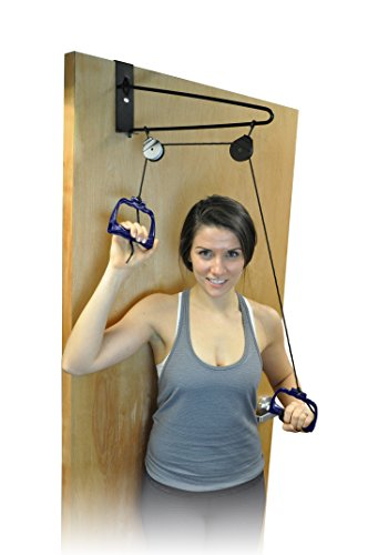 Blue Jay Move those Shoulders Overdoor Pulley Exerciser - Increase Range of Motion, Shoulder Rehabilitation, Dual Pulleys for Easy Operation, Portable, Physical Therapy Aids ()