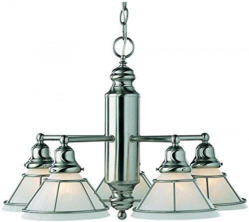 - Dolan Designs 625-09 5Lt Satin Nickel Craftsman 5 Light Chandelier,