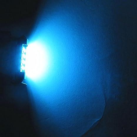 WLJH Festoon Ampoules LED 41 mm 2835 SMD Tr/ès Lumineuses Blanc Bleu Glacier Remplacement pour Lumi/ère LED de Voiture Plafonnier Liseuse de Carte Feux de Plaque dImmatriculation Lot de 10