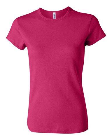 (Bella Womens 1x1 Rib Cap-Sleeve T-Shirt in LG in)