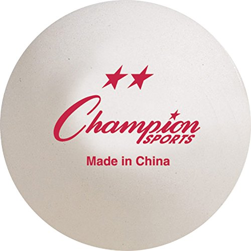 Champion Sports Tournament Table Tennis Ball, 40mm 2STAR
