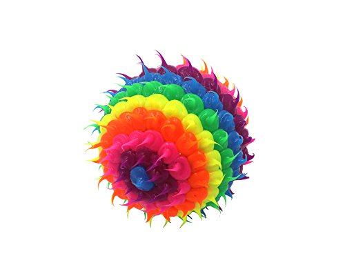 Colorful Silicone Spiny Cactus Rubber Bounce Stress Fidget Ball Toy (HANDMADE) (Color Options) (Rainbow)