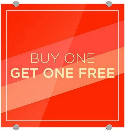 16x16 CGSignLab Buy One Get One Free Modern Diagonal Premium Brushed Aluminum Sign 5-Pack