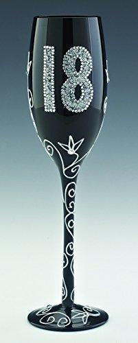 Boxer - Copa para espumoso con diseño de 18 cumpleaños, color negro: Amazon.es: Hogar