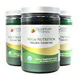 New Mega-Nutrition Organic Superfood Infused with Turmeric to Help with Inflammation (3 Bottles)