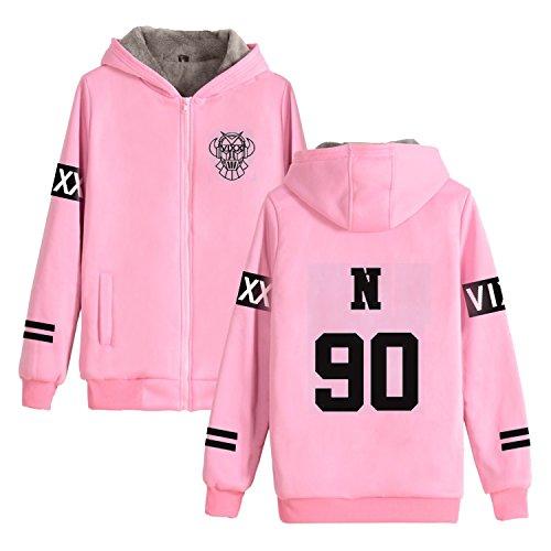 JUNG KOOK VIXX Concert Hoodie Leo Ken Ravi Hongbin Hyuk Zipper Thickened Sweater