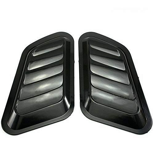 Yasre 2pcs Front Black Color ABS Decorative Intake Scoop Turbo Bonnet Vent Cover Hood Auto Fit for Jeep Chevrolet Ford Dodge Audi Jaguar Volkswagen Toyota Honda Mazda Lexus Nissan