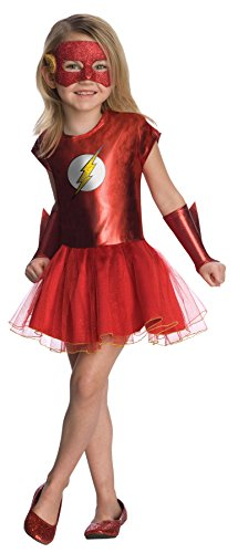 New Movie Flash Costume (UHC Girl's Flash Tutu Dress Funny Theme Outfit Toddler Child Superhero Costume, Child S)