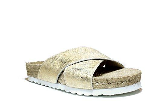 Sandalia Los Zueco Platino Contra De Verano 4230091 Viguera Colección 2016 Zapatos Piel Nueva Primavera Enérgicas 65AYxInq