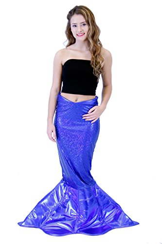 Fairy Tail Halloween Costume (Magical Mermaid Sparkle Tail DELUXE Costume (XS, Blue))