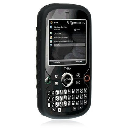 Treo Black Skin (NEW BLACK SOFT RUBBER/SILICONE SKIN CASE COVER FOR PALM TREO PRO 850 CELL PHONE)