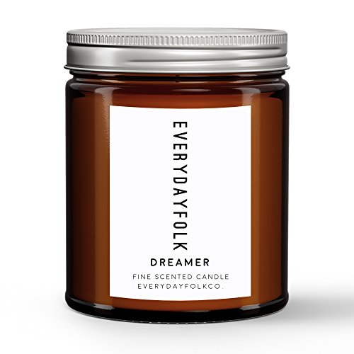 EverydayFolkCo. Dreamer Candle. Creamy Oceanic Jasmine Floral Scented Soy Candle with Natural Essential Oils. 4 Ounces. ()
