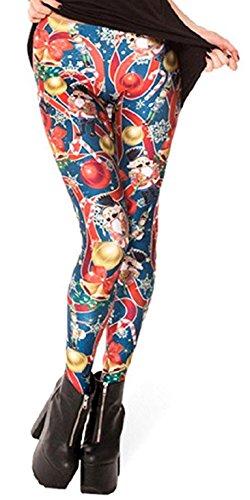 Lucky Girl LA Women's Christmas Nutcracker Print Leggings (One Size (S/M), Christmas) (Nutcracker Musical Santa)