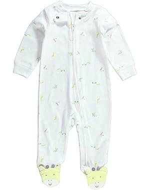 Unisex Baby Print Footie (Baby) - Giraffes