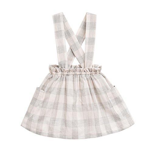 marc janie Baby Toddler Girls' Fashion Suspender Skirt Gray