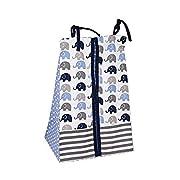 Elephants Blue/Grey 10 pc crib set including Bumper Pad
